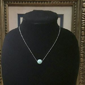 Jewelry - NEW Turquoise n Stainless Steel Necklace